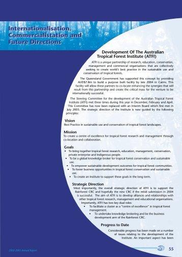Internationalisation, Commercialisation - Rainforest Cooperative ...