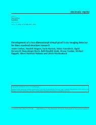 electronic reprint Development of a two-dimensional virtual-pixel X ...