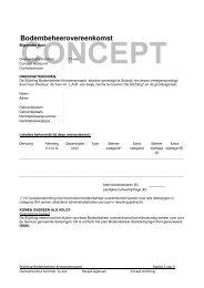 Voorbeeld van een bodembeheerovereenkomst 2011 - SBK ...