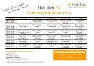 Halt dich Fit Sommerprogramm 2012 - iuventas Hamm
