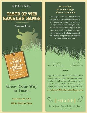 Graze Your Way at Taste! - Taste of the Hawaiian Range