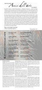 Konzertflyer - Kammerorchester «Amici dell'arte - Seite 2
