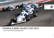 ForMula BMW talent cup 2012. - BMW Motorsport