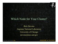 Which Node for Your Cluster? - Argonne National Laboratory