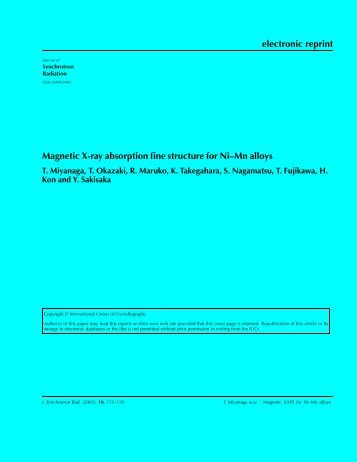 electronic reprint Magnetic X-ray absorption fine structure for Ni–Mn ...