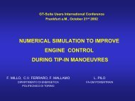 numerical simulation to improve engine control during tip-in ...