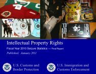 Intellectual Property Rights Fiscal Year 2010 Seizure Statistics