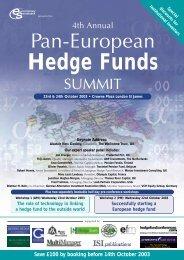 Hedge Funds - Euromoney Institutional Investor PLC