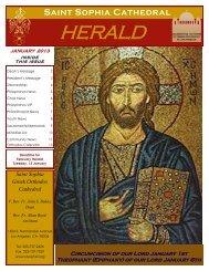 January 2013 - Saint Sophia Greek Orthodox Cathedral