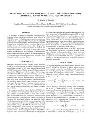 JOINT FREQUENCY OFFSET AND CHANNEL ESTIMATION IN THE ...