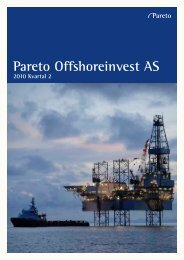 Pareto Offshoreinvest AS - Pareto Project Finance