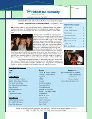 Summer/Fall Newsletter - Beaches Habitat for Humanity