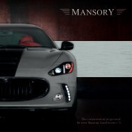 The customization programme for your Maserati ... - Mansory