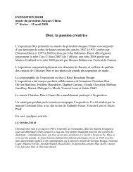 Dior, la passion créatrice - musée du président Jacques Chirac