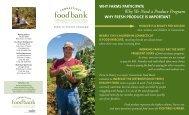 program brochure - Connecticut Food Bank