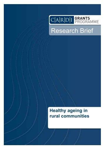 Healthy Ageing in Rural Communities - CARDI