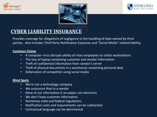 Managment Liability Blind Spots - The Georgia Center of Innovation ...