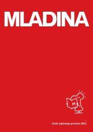 Cenik oglasov založbe Mladina 2009 Cenik oglasnega prostora 2012