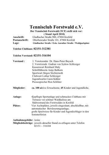 Flyer als PDF - TC Forstwald
