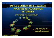 IMPLEMENTION OF EU WATER POLICIES for ACCESSION In TURKEY