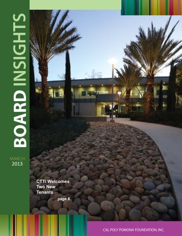 MARCH Board Insights Issue - Cal Poly Pomona Foundation