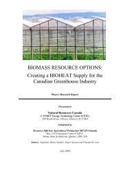 BIOMASS RESOURCE OPTIONS: Creating a BIOHEAT Supply for ...
