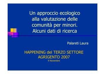 Un approccio ecologico alla valutazione delle ... - Consorzio Sol.Co.
