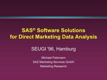 SAS software solutions ... - sasCommunity.org