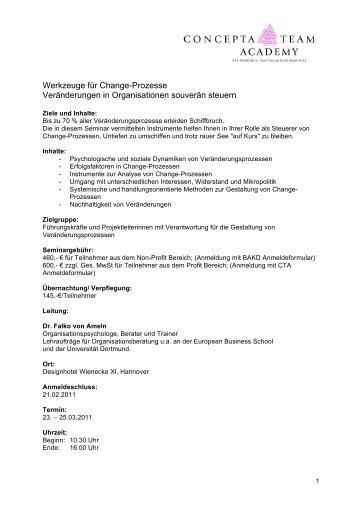 Werkzeuge für Change-Prozesse Veränderungen in Organisationen ...