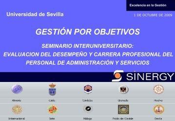 GESTIÓN POR OBJETIVOS - Universidad de Sevilla