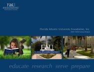 Annual Report - Florida Atlantic University Foundation, Inc.