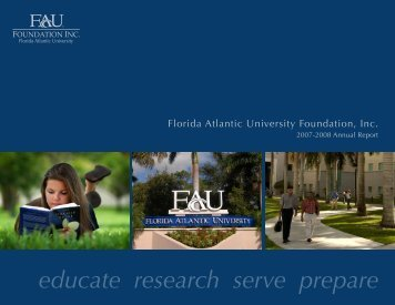 Annual Report - Florida Atlantic University Foundation, Inc.