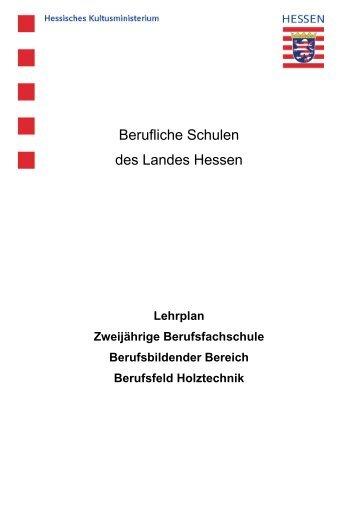 Berufsfeld Holztechnik - Peter Behrens Schule