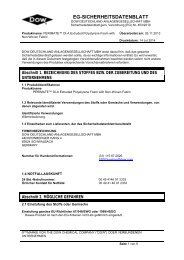 EG-SICHERHEITSDATENBLATT - Dow Building Solutions - The ...