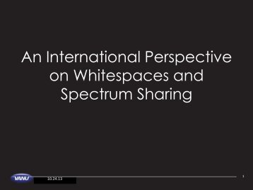 An International Perspective on Whitespaces and Spectrum ... - nitrd