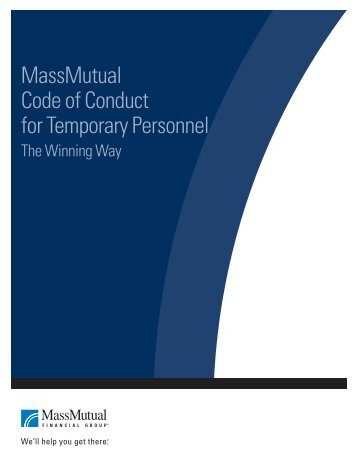 MassMutual Code of Conduct for Temporary Personnel