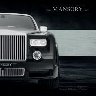 The customization programme for your Rolls-Royce ... - Mansory