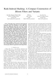 Rank-Indexed Hashing: A Compact Construction of Bloom ... - ICNP