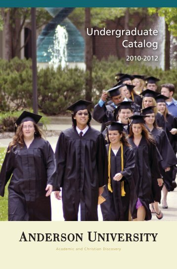Anderson University Undergraduate Catalog