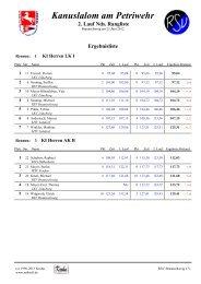 Ergebnisliste 2.Rangliste 2012 - RSV Braunschweig