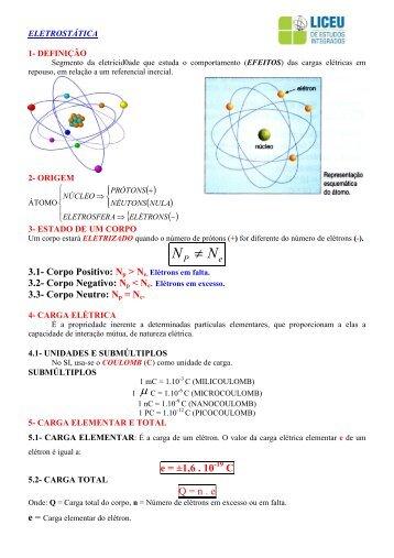 Apostila de Física - Eletrostática - 3º EM - liceu.net
