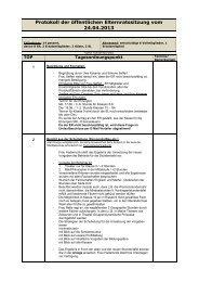 Protokoll der öffentlichen Elternratssitzung vom 24.04.2013