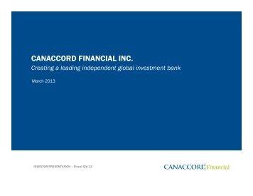 Presentation slides - Canaccord Financial