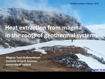Heat extraction from magma in the roots of geothermal ... - Georg