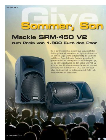 Sommer, Son - tools4music