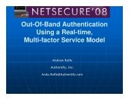 Out-Of-Band Authentication Using a Real-time, Multi-factor Service ...