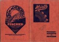 Hurth Getriebe Teil 1 Vorkrieg