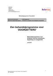 Behandelprogramma Doorzetters - Heliomare