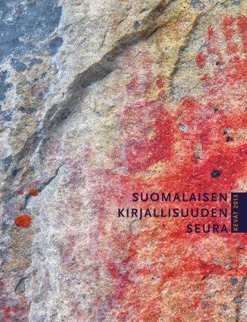 uusin julkaisuluettelo (pdf) - Suomalaisen Kirjallisuuden Seura