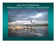 2004 gulfstream 450 presented by j a spears & associates
